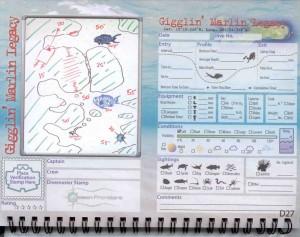Gigglin' Marlin Legacy Dive Site Log